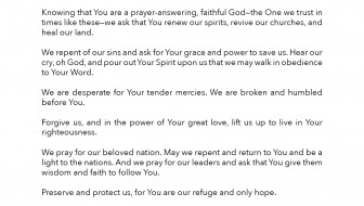 2015 National Prayer by Pastor Jack Graham